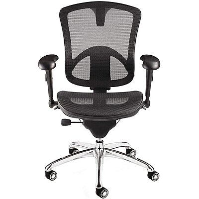 "Exec Chair,Mesh,Black,18"" To"
