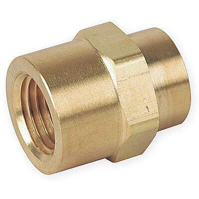 Brass Pipe Coupler Body MNPT 1//8 In
