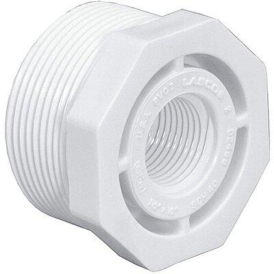 "6/"" x 4/"" White PVC Reducer Bushing"