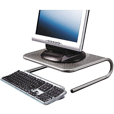 Monitor Stand,Pewter,Steel