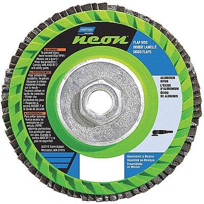 Flap Disc 7//8 Norton 4 1//2 in x 120 Grit