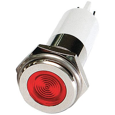 Flat Indicator Light,Red,110VAC