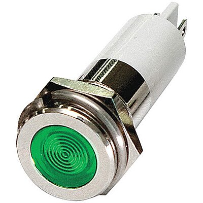 Flat Indicator Light,Green,