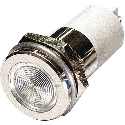 Flat Indicator Light,White,