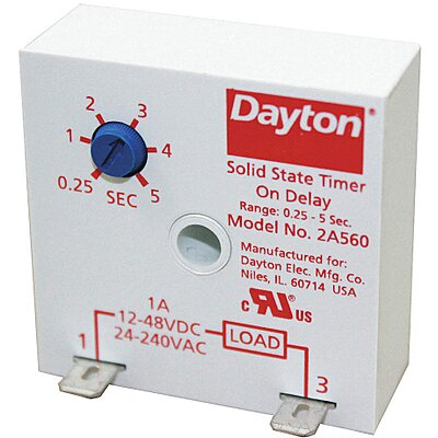 912213-9 Single Function Encapsulated Timing Relay, Function