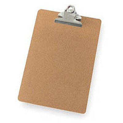 Clipboard, Letter,B5, Brown