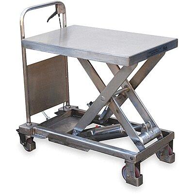 926008-6 Mobile Manual Lift, Manual Push Scissor Lift Table