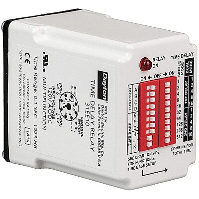 922201-3 Multi-Function Time Delay Relay, 120VAC/DC Coil