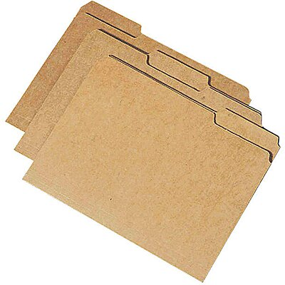 Folder,Legal,1/3 Cut,Kraft,