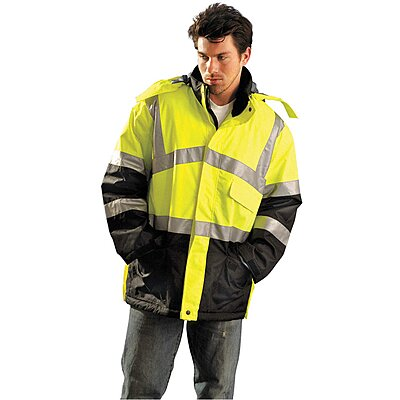 Jacket,Insulated,4XL,Yellow,