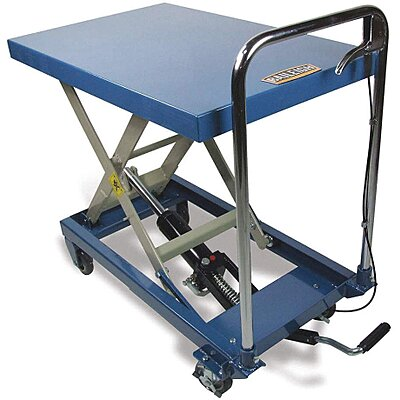 917244-5 Mobile Manual Lift, Manual Push Scissor Lift Table, 660 lb