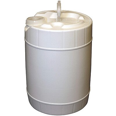 917535-7 5 0 gal  High Density Polyethylene Round Pail, White