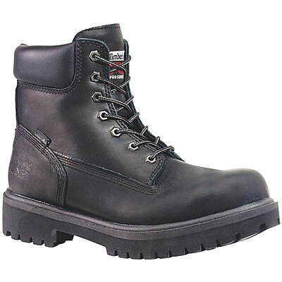 Work Boots PR 6In 8-1//2 Compste Toe Blk
