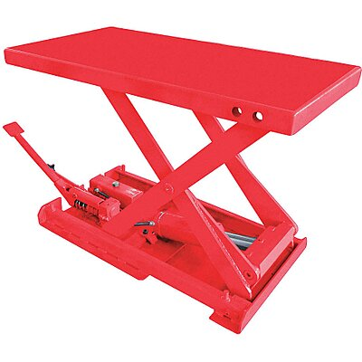 925187-9 Stationary Manual Lift Scissor Lift Table, 550 lb
