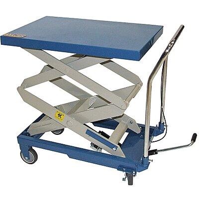 916596-5 Mobile Manual Lift, Manual Push Scissor Lift Table