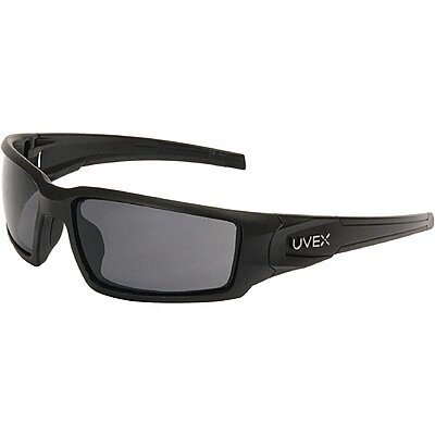 Uvex Bayonet Safety Glasses with Smoke Lens Black Frame