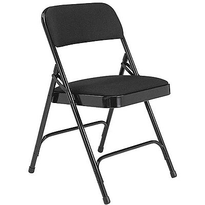 Admirable 923040 8 Black Steel Folding Chair With Black Seat Color 4Pk Download Free Architecture Designs Itiscsunscenecom
