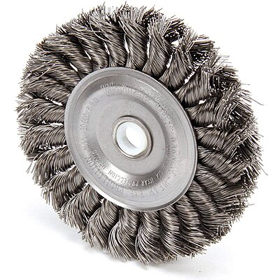 Groovy 910834 7 4 Twisted Wire Wheel Brush Arbor Hole Mounting Gmtry Best Dining Table And Chair Ideas Images Gmtryco