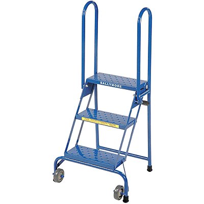 Rolling Ladder 3 Step, Blue