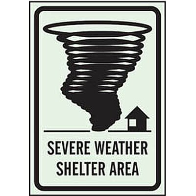 Safety Sign, Severe Weather,Sh