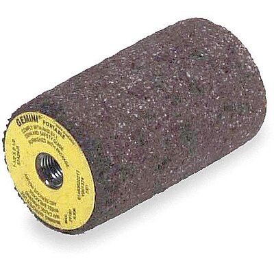 Aluminum Oxide 3//8-24 Arbor Size 1 Grinding Cone Package Quantity 10 24 Grit 3 Thickness
