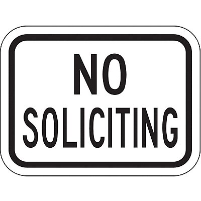 Safety Sign, No Soliciting
