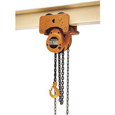 Manual Chain Hoist 20 Foot Lift 6,000 Pound Cap.