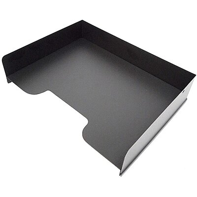 Letter Tray,Steel,Black,1 Comp