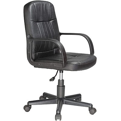 Mid-Back Chair,Black,20 In.