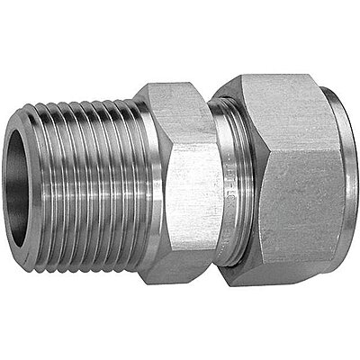 Male Connector,SS,1/4in.,