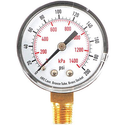 Pressure Gauge, 200PSI, Lower