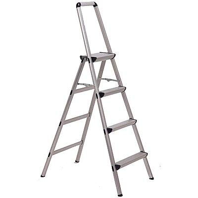 Fine 926685 Aluminum Folding Step 60 Overall Height 225 Lb Machost Co Dining Chair Design Ideas Machostcouk