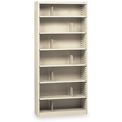 Bookcase,Steel,7 Shelves,Putty