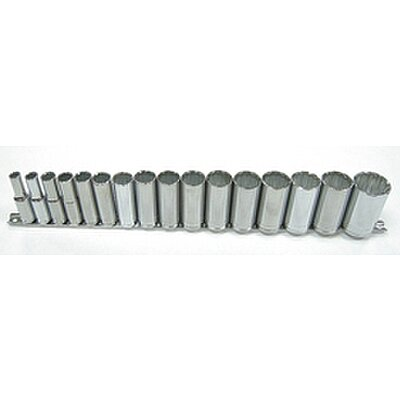 Socket Set, 1/2DR, 12PT, 16PC