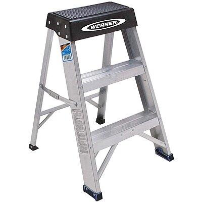 Groovy 911225 4 Aluminum Step Stand 24 Overall Height 300 Lb Creativecarmelina Interior Chair Design Creativecarmelinacom