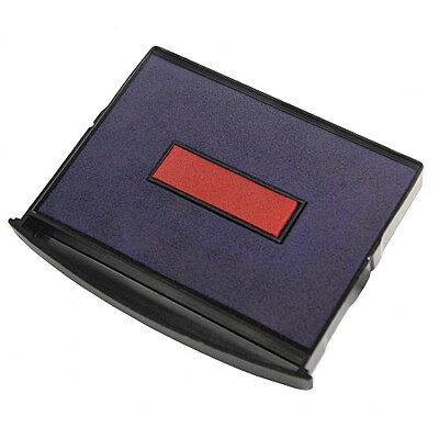 Stamp Pad,Dual Color,Blue/Red