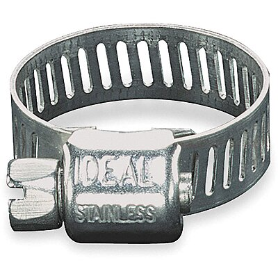 Stainless Steel Worm Gear Hose Clamps 11//16 To 1-1//2 Inch Diameter Box Of 10