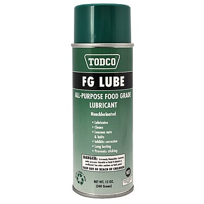 6718 Todco 174 Food Grade Lubricant 12 Oz Aerosol Can