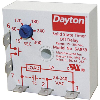 Relays Relay Encapsulated Timer Rlay 10A 120VAC Replacement Parts