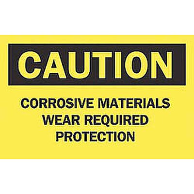 Safety Sign, Corrosive Materia