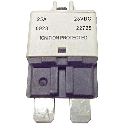 Bussmann CB227-20 CB227 Series Automotive Circuit Breaker Plug In Mounting, 20 Amps, Blade Terminal Connection