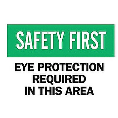 Safety Sign, Eye Protection Re
