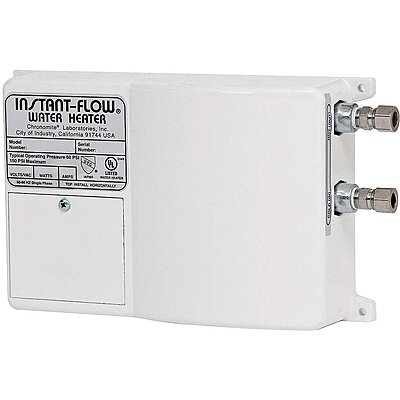 919327-4 120v undersink electric tankless water heater, 2400 watts