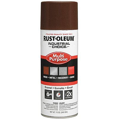 912586 Industrial Choice Spray Paint in Gloss Leather Brown