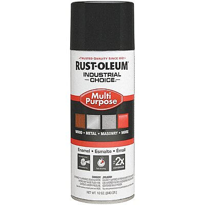 912008-2 Industrial Choice Spray Paint in Gloss Black for