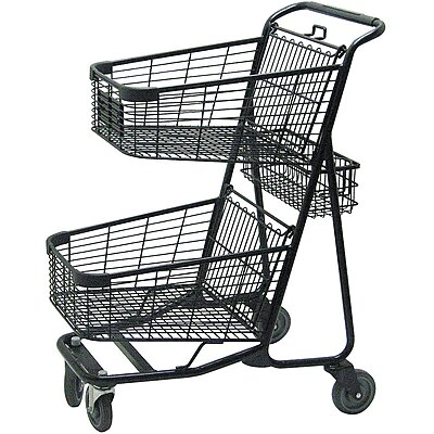 Two Tier Shopping Cart,29 In.