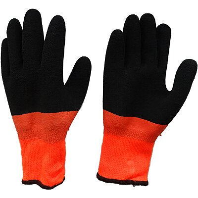 Gardening Supplies Scan Hi-vis Orange Foam Latex Coated Gloves Size 8 Medium