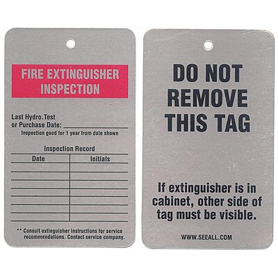 913009 Inspection Tag, Embossable Aluminum, Height: 5