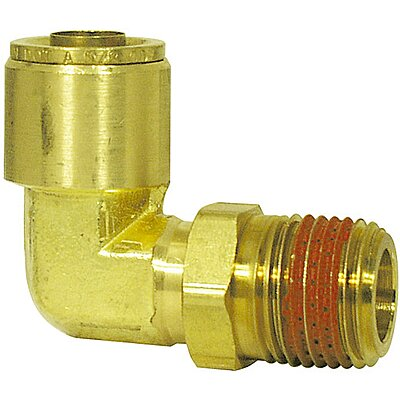 Air Brake Union 3//8 Tube OD Pack of 1 Vis Brass D.O.T Push in Fitting