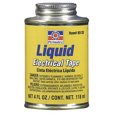 Liquid Elect. Tape Black 4 Oz.